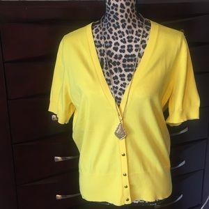 Banana Republic canary yellow sweater